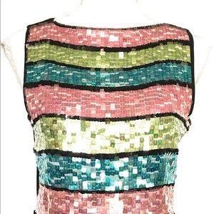 Joseph A, summer sweater, multicolored, Small